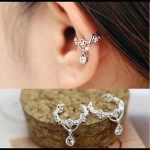 Cuff Clip on Earrings Silver